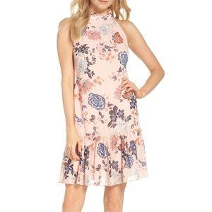 NWT Vince Camuto Floral Ruffle Chiffon Shift Dress